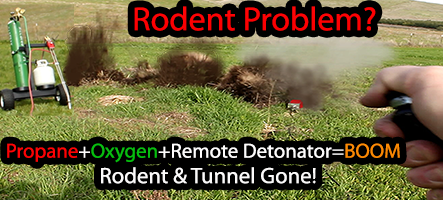 Gopher, Prairie Dog Underground Rodent Control With Propane And Oxygen